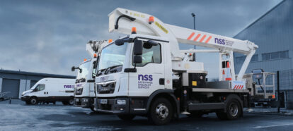 NSS branded vehicle livery featuring new brand identity