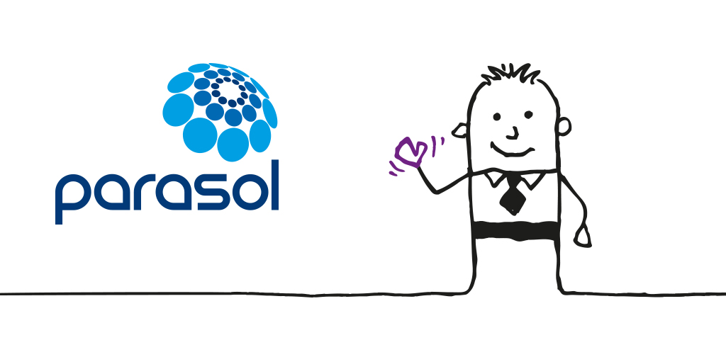 Parasol brand logo and illustration example