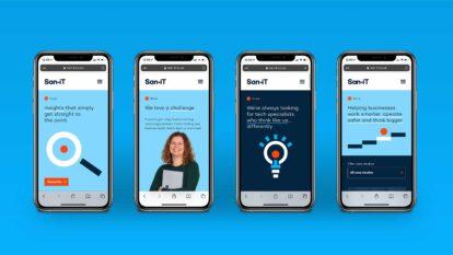 San-iT website mobile screens
